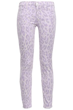 7 FOR ALL MANKIND Leopard-print mid-rise skinny jeans