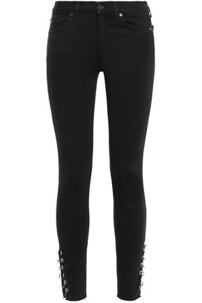 7 FOR ALL MANKIND Embellished mid-rise skinny jeans