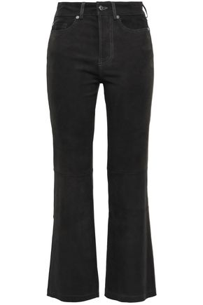 7 FOR ALL MANKIND Cropped suede bootcut pants