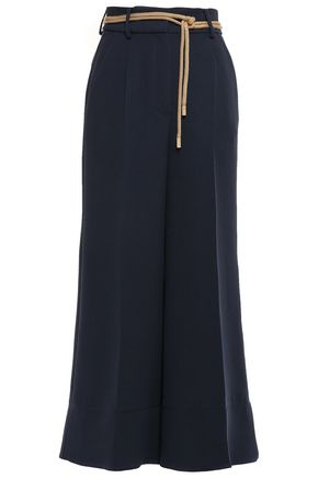 ROKSANDA Cropped crepe wide-leg pants