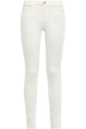 7 FOR ALL MANKIND The Skinny crystal-embellished low-rise skinny jeans