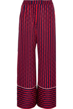HOUSE OF HOLLAND Striped jacquard wide-leg pants
