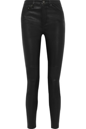 EQUIPMENT Leather skinny pants