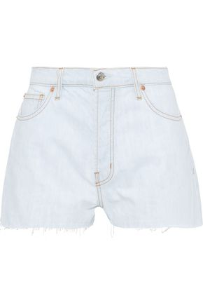 IRO Jansus frayed denim shorts