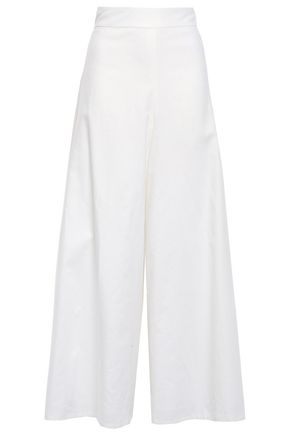 KATE SPADE New York Linen and cotton-blend gauze culottes