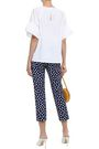 KATE SPADE New York Printed cotton-blend jacquard tapered pants