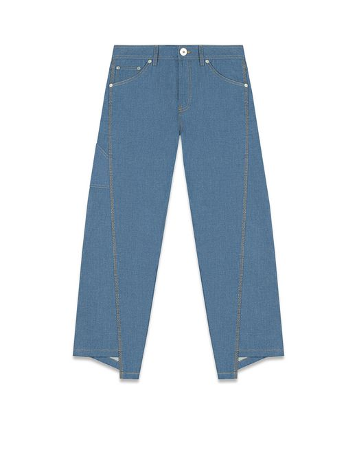ASYMMETRICAL PANTS IN TOPSTITCHED DENIM - Lanvin