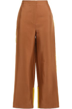 ROKSANDA Two-tone crepe wide-leg pants