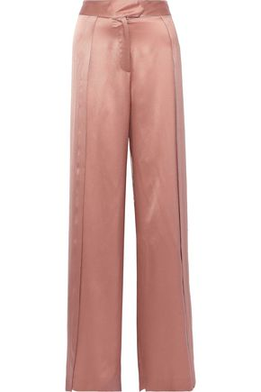 MICHELLE MASON Silk-charmeuse wide-leg pants