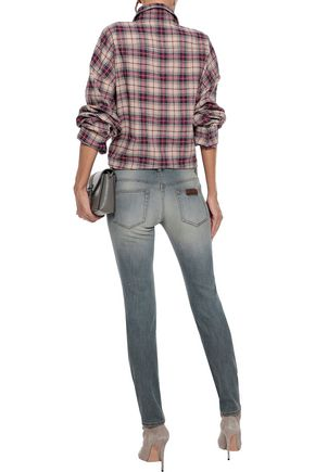 FAITH CONNEXION Distressed low-rise skinny jeans
