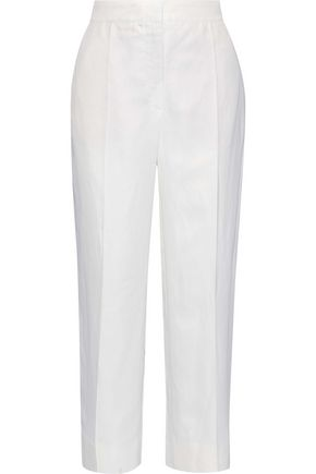 G. LABEL Eileen cropped twill straight-leg pants