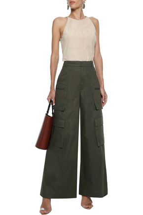 G. LABEL Dimitri cotton-twill wide-leg pants