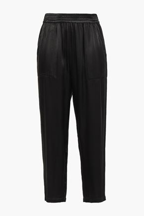RAQUEL ALLEGRA Satin straight-leg pants