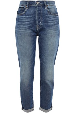 7 FOR ALL MANKIND ハイライズ スリムレッグ ジーンズ