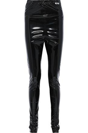 MSGM Vinyl skinny pants