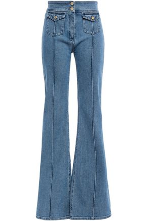 BALMAIN High-rise flared jeans