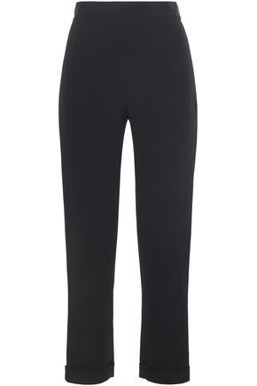 BALMAIN Crepe-satin slim-leg pants