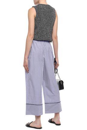 3.1 PHILLIP LIM Cropped striped cotton wide-leg pants