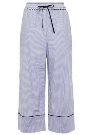 3.1 PHILLIP LIM Cropped striped cotton wide-leg pants