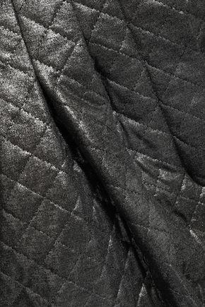 BALMAIN Quilted metallic jersey tapered pants
