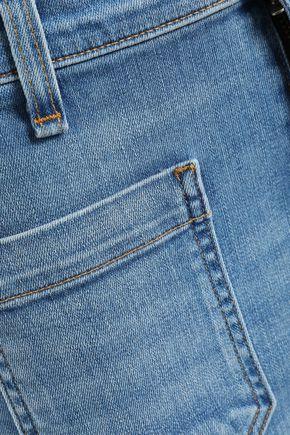 VERONICA BEARD Frayed high-rise kick-flare jeans