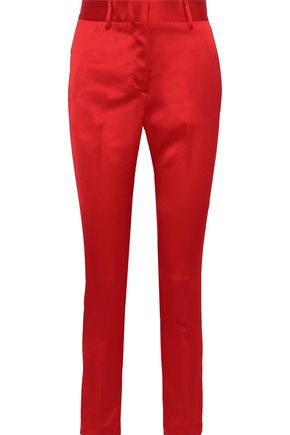 MSGM Satin-crepe slim-leg pants