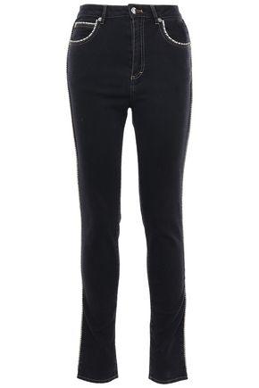 SONIA RYKIEL Crystal-embellished high-rise skinny jeans