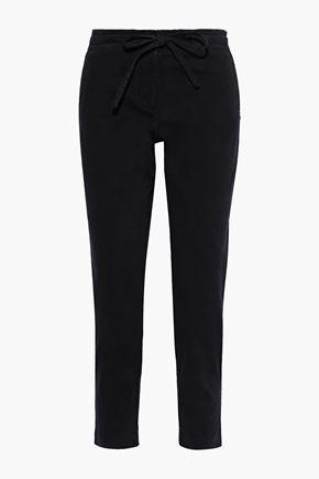 ROBERT RODRIGUEZ Cropped cotton-blend twill slim-leg pants