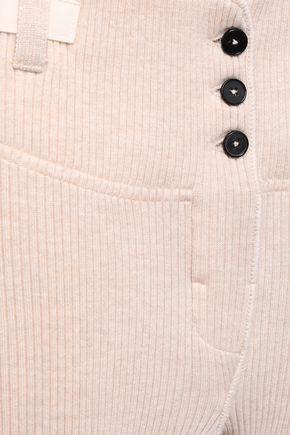 JIL SANDER Ribbed wool leggings