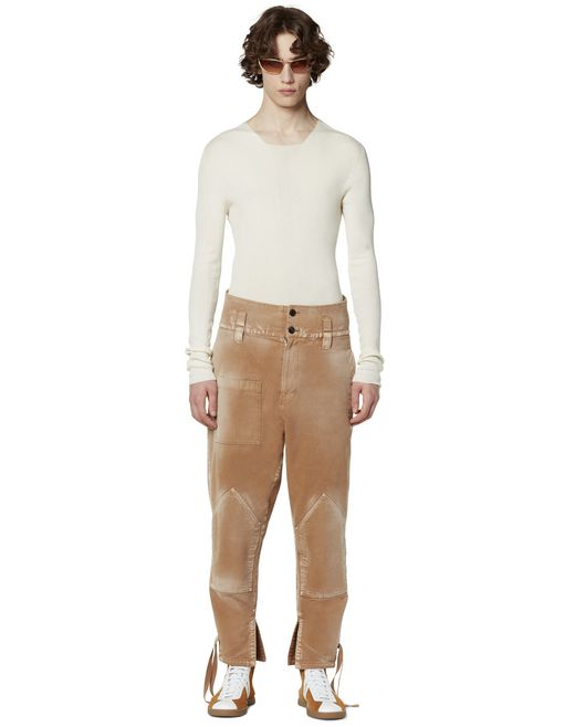 CANVAS PANTS WITH RIBBONS - Lanvin