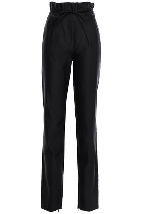 VALENTINO Silk-satin tapered pants