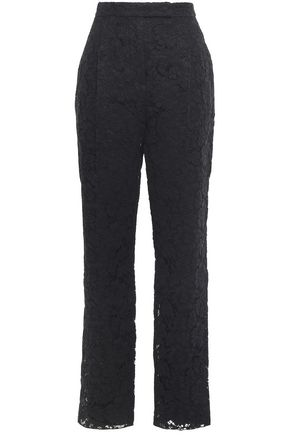 VALENTINO Cotton-blend corded lace tapered pants