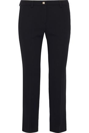 VERSACE COLLECTION Cropped crepe slim-leg pants