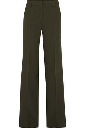 VERSACE Satin-trimmed crepe wide-leg pants