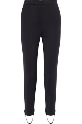 0c0159b0 Striped cotton-blend skinny stirrup pants | VERSACE | Sale up to 70 ...