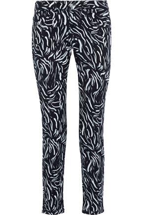 VERSUS VERSACE Printed low-rise slim-leg jeans