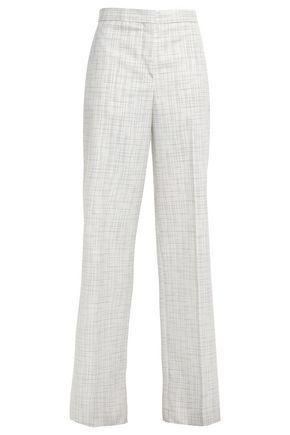 JIL SANDER Checked twill wide-leg pants
