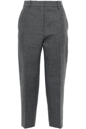 JIL SANDER Cropped mélange wool tapered pants