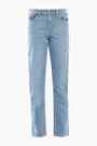 ACNE STUDIOS Faded printed mid-rise straight-leg jeans