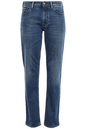 ACNE STUDIOS Faded mid-rise straight-leg jeans