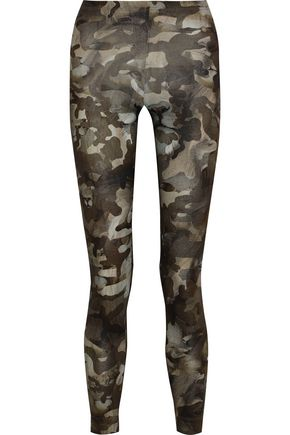 VERSUS VERSACE Printed cotton-blend jersey leggings