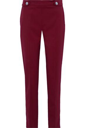 VERSUS VERSACE Button-detailed wool-blend straight-leg pants