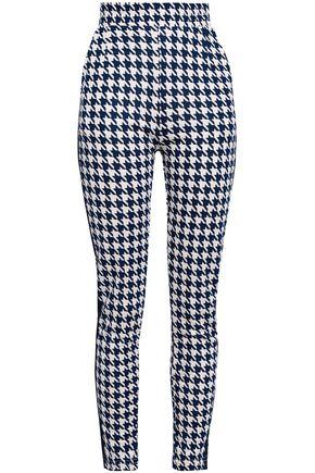 BAUM UND PFERDGARTEN Jaffa houndstooth stretch-jersey skinny pants