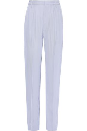 IRIS & INK Rae pleated twill straight-leg pants