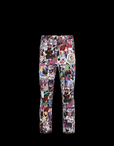 MONCLER PRINTED TROUSERS - Casual trousers - men