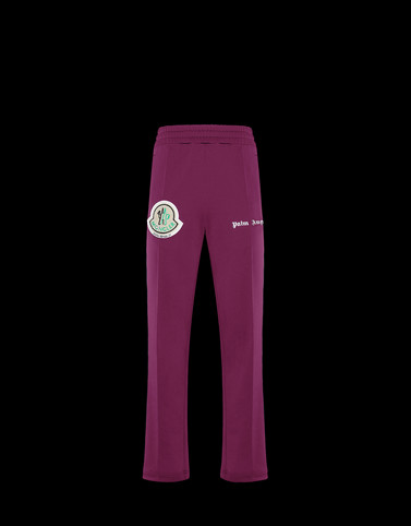 CASUAL TROUSER Dark purple 8 Moncler Palm Angels