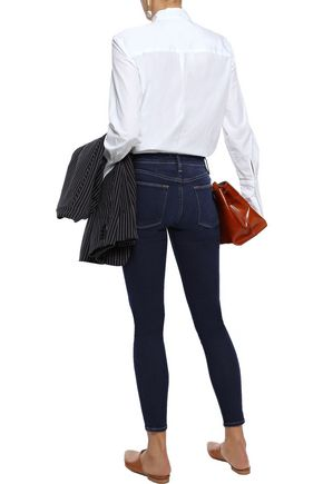 FRAME Le High cropped mid-rise skinny jeans