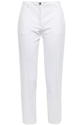 VERSACE COLLECTION Cropped cady slim-leg pants
