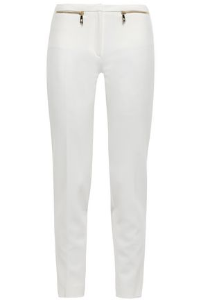 VERSACE COLLECTION Zip-detailed cady slim-leg pants