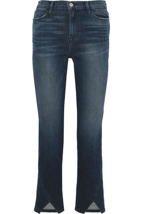 FRAME Le High Straight cropped high-rise straight-leg jeans